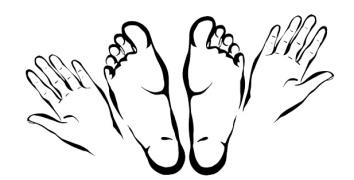 logo entre pieds et Mains